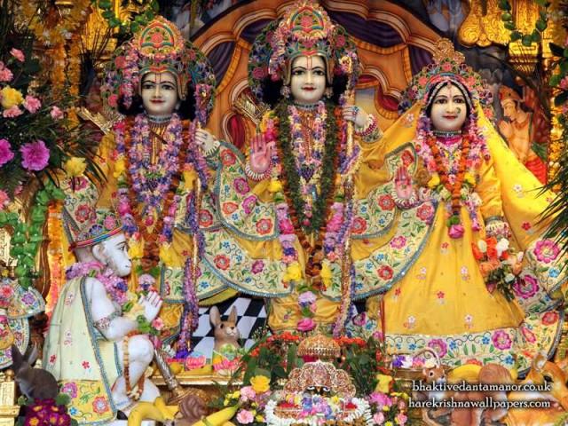Sri Sri Sita Rama Laxman Hanuman Wallpaper (011)