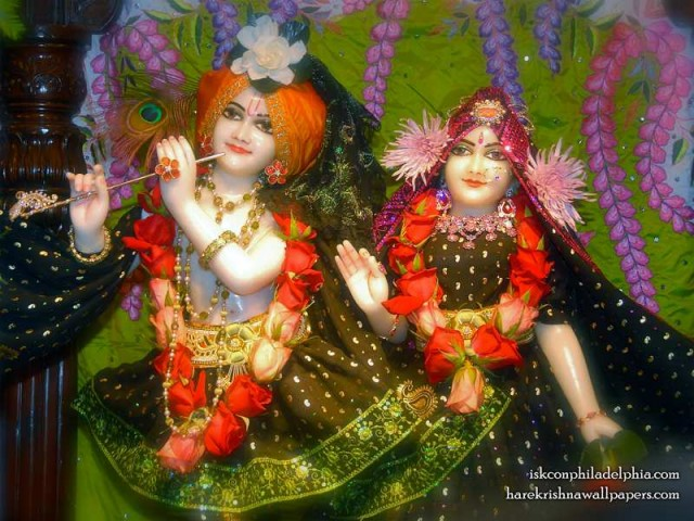 Sri Sri Radha Krishna Close up Wallpaper (012)