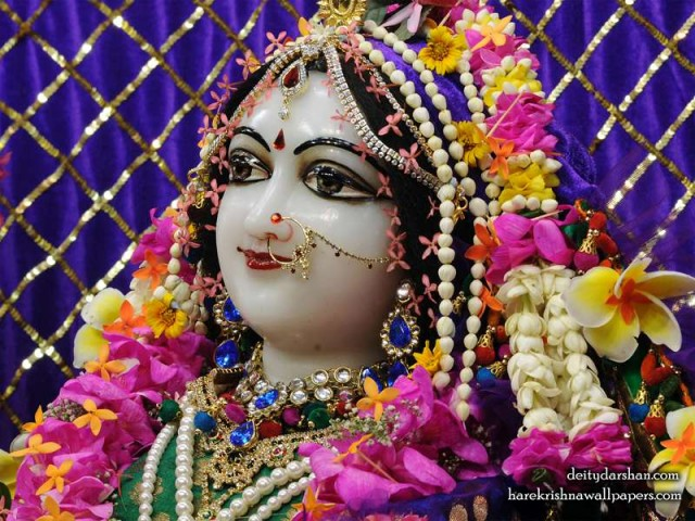 Srimati Radharani Close up Wallpaper (093)