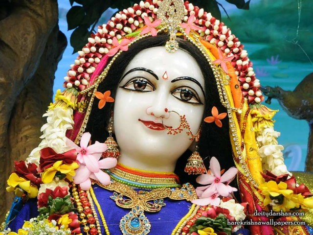 Srimati Radharani Close up Wallpaper (098)