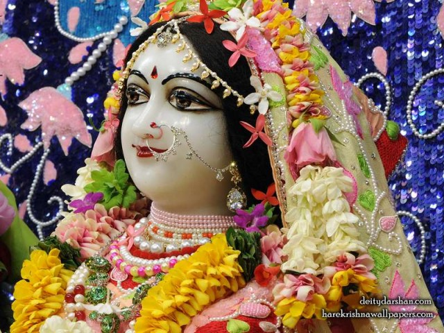Srimati Radharani Close up Wallpaper (101)