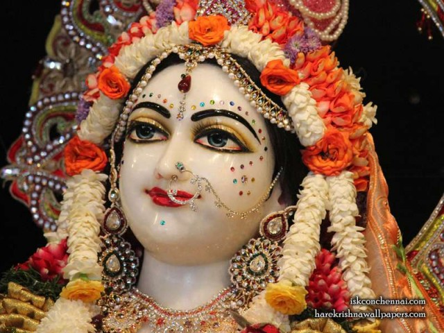Sri Radha Close up Wallpaper (006)
