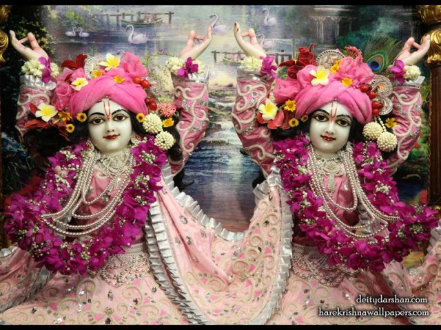 Sri Sri Nitai Gaurachandra Close up Wallpaper (019)