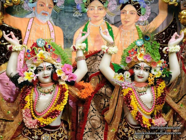 Sri Sri Nitai Gaurachandra Close up Wallpaper (022)