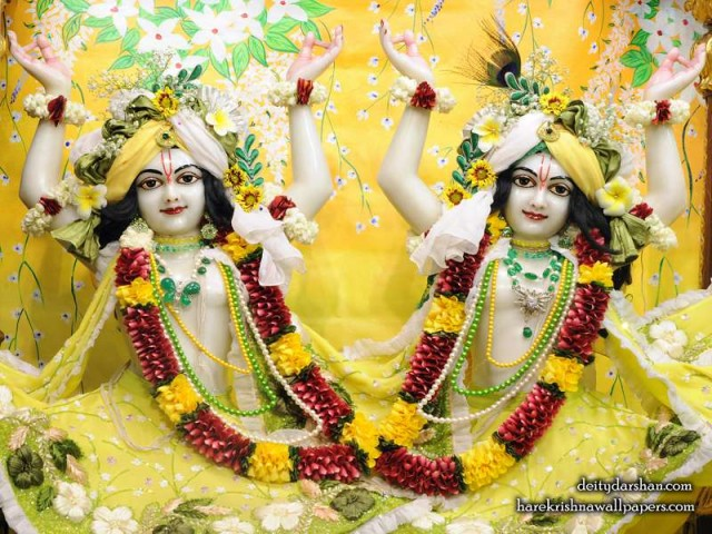 Sri Sri Nitai Gaurachandra Close up Wallpaper (023)