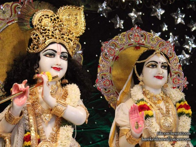 Sri Sri Radha Krishna Close up Wallpaper (009)