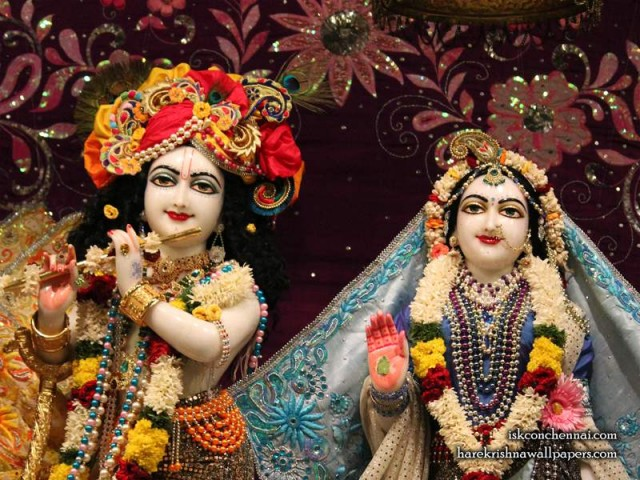 Sri Sri Radha Krishna Close up Wallpaper (012)