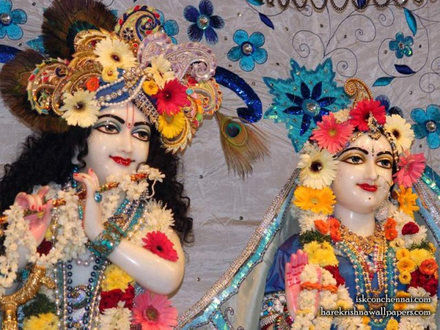 Sri Sri Radha Krishna Close up Wallpaper (016)