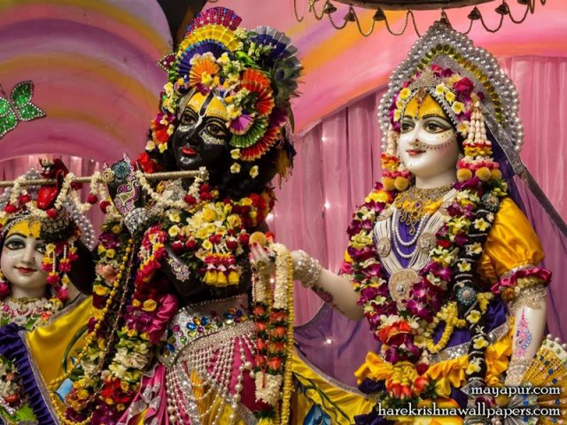 Sri Sri Radha Madhava Close up Wallpaper (009)