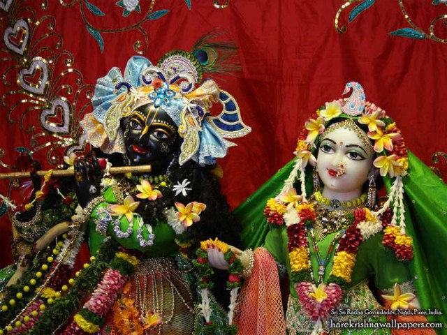 Sri Sri Radha Govind Close up Wallpaper (014)