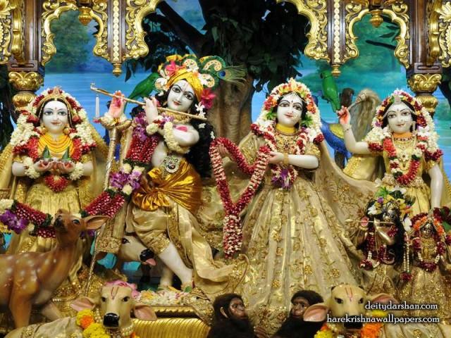 Sri Sri Radha Gopinath Lalita Vishakha Wallpaper (070)