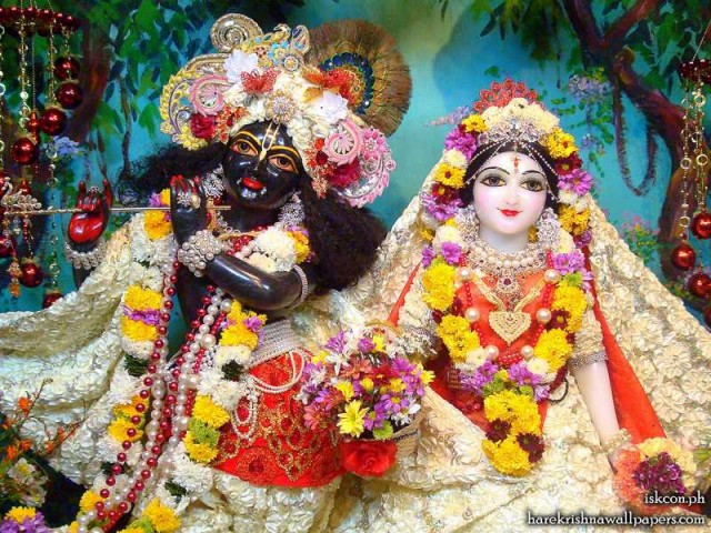 Sri Sri Radha Madhava Close up Wallpaper (013)