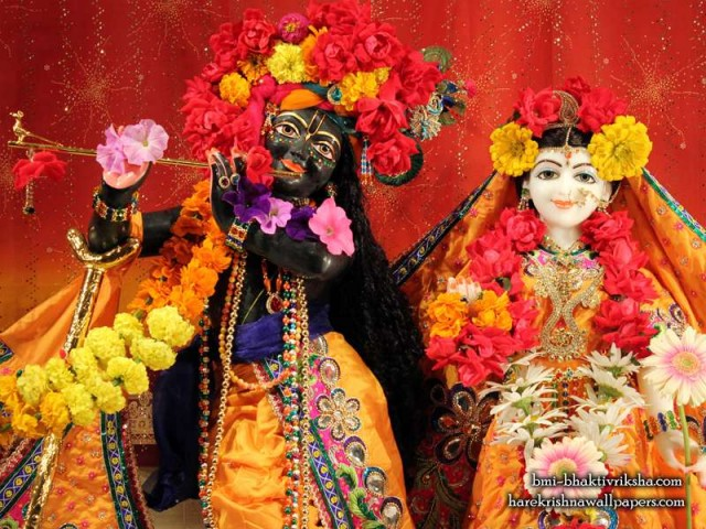 Sri Sri Radha Shyamsundar Close up Wallpaper (001)