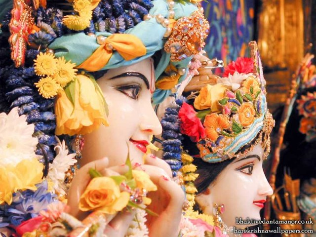 Sri Sri Radha Gokulanand Close up Wallpaper (014)