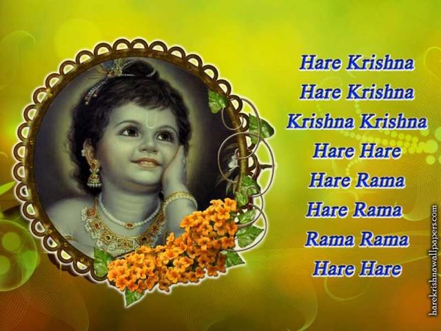 Chant Hare Krishna Mahamantra Wallpaper (020)