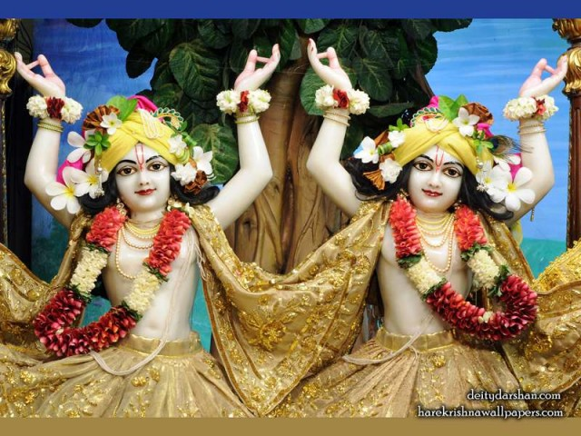 Sri Sri Nitai Gaurachandra Close up Wallpaper (024)