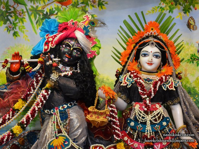Sri Sri Radha Madan Gopal Close up Wallpaper (004)