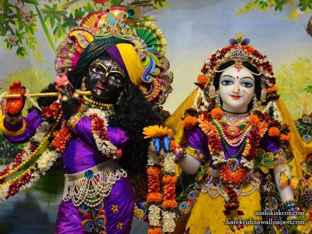 Sri Sri Radha Madan Gopal Close up Wallpaper (007)