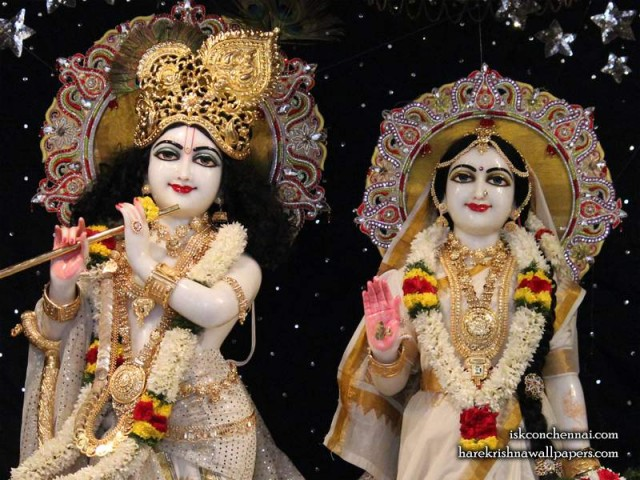 Sri Sri Radha Krishna Close up Wallpaper (010)