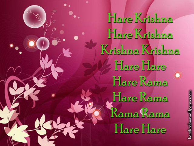Chant Hare Krishna Mahamantra Wallpaper (017)