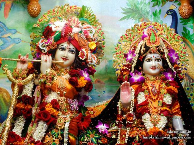 Sri Sri Radha Kunjabihari Close up Wallpaper (001)