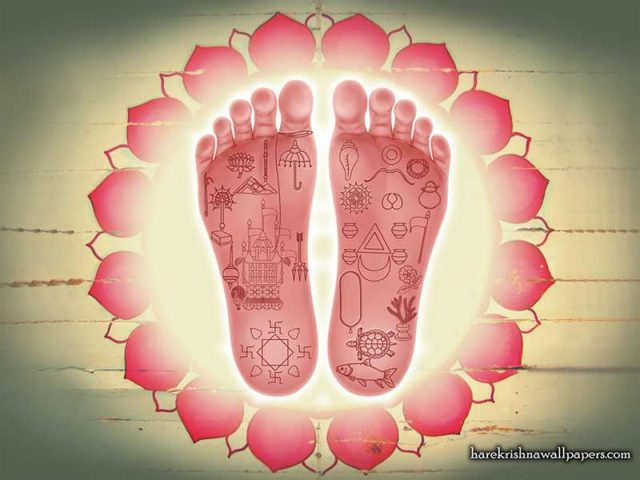 Sri Chaitanya Lotus Feet Wallpaper (001)