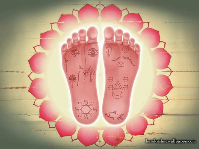 Sri Krishna Lotus Feet Wallpaper (001)