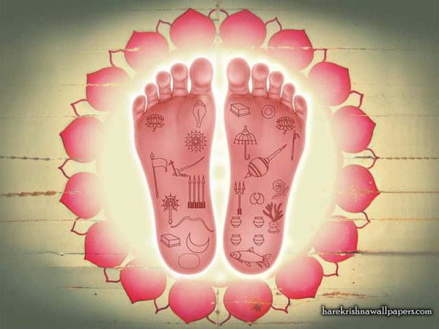 Sri Nityananda Lotus Feet Wallpaper (001)