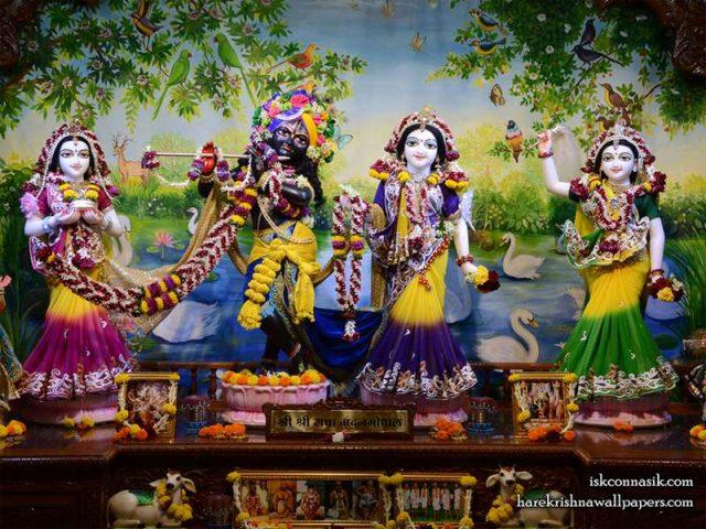 Sri Sri Radha Madan Gopal Lalita Vishakha Wallpaper (001)