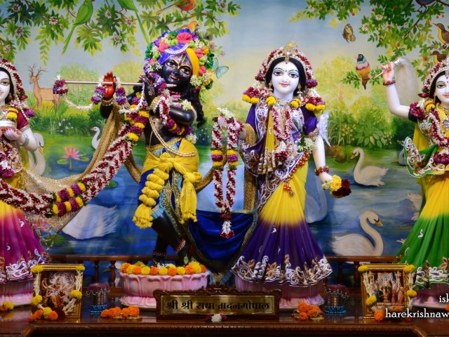 Sri Sri Radha Madan Gopal Lalita Vishakha Wallpaper (001) Size 2400×1350 Download