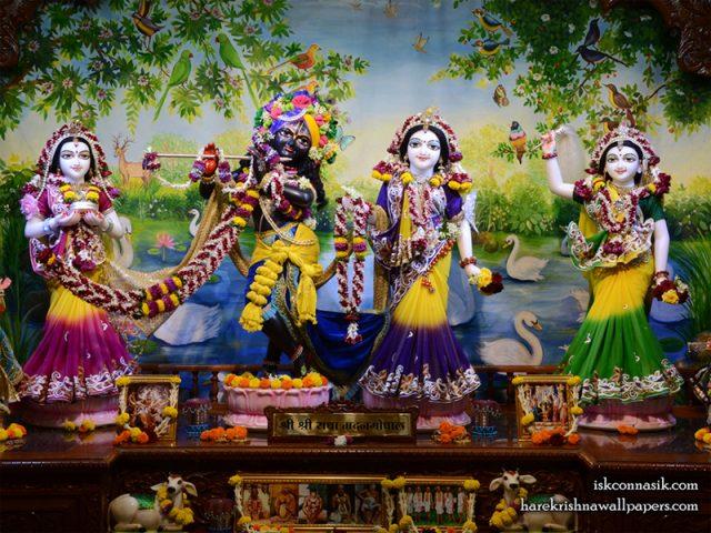 Sri Sri Radha Madan Gopal Lalita Vishakha Wallpaper (001) Size 800×600 Download