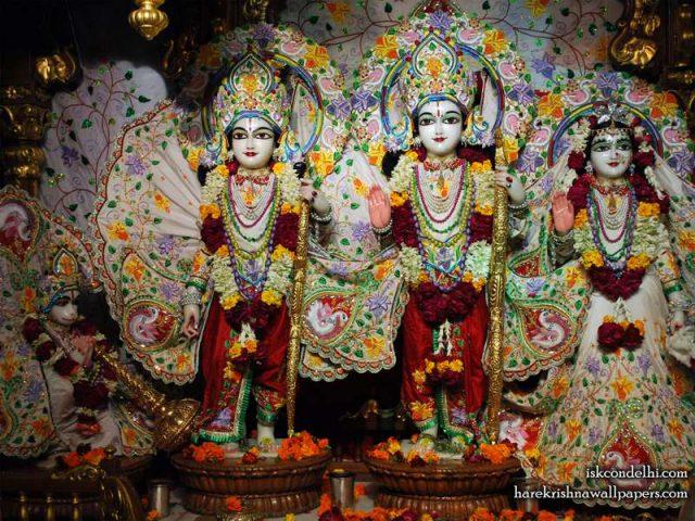 Sri Sri Sita Rama Laxman Hanuman Wallpaper (001)