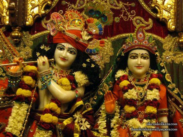 Sri Sri Radha Govind Close up Wallpaper (002)