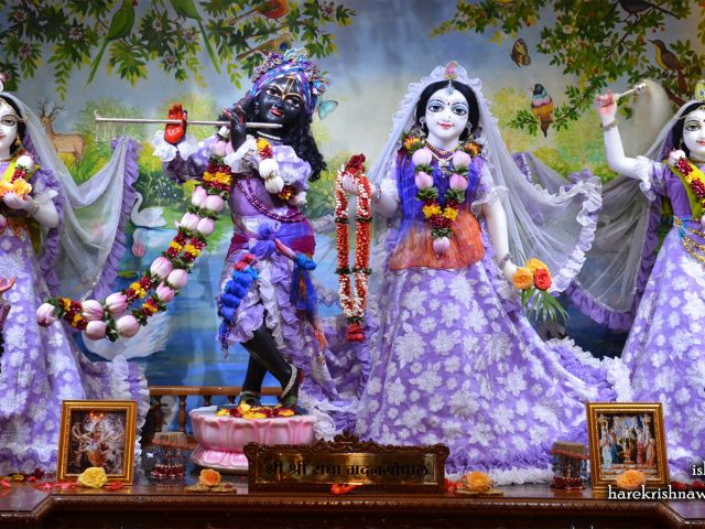 Sri Sri Radha Madan Gopal Lalita Vishakha Wallpaper (002) Size 1600×900 Download