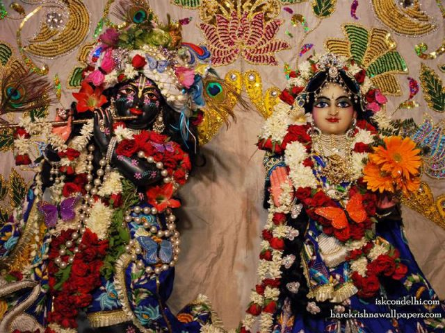 Sri Sri Radha Parthasarathi Close up Wallpaper (002)