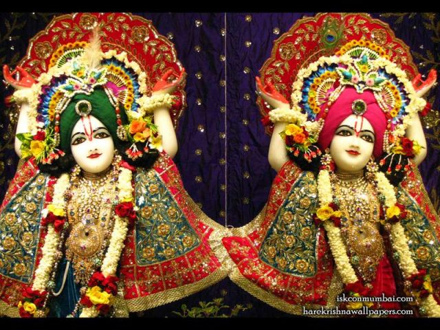Sri Sri Gaura Nitai Close up Wallpaper (003)