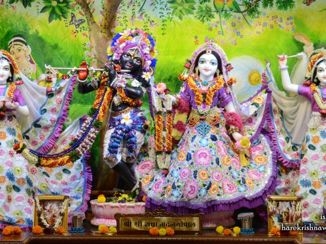 Sri Sri Radha Madan Gopal Lalita Vishakha Wallpaper (003) Size 2400×1350 Download