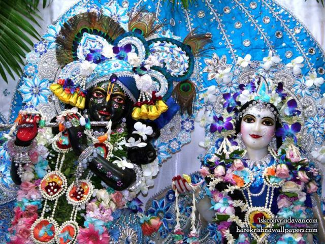 Sri Sri Radha Shyamsundar Close up Wallpaper (003)