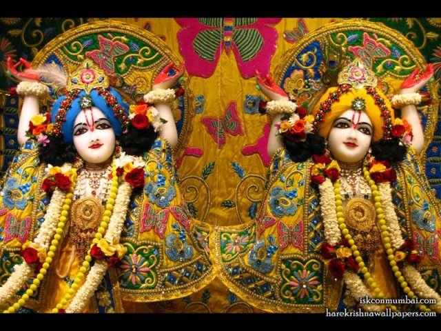 Sri Sri Gaura Nitai Close up Wallpaper (004)