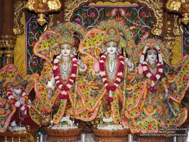 Sri Sri Sita Rama Laxman Hanuman Wallpaper (004)