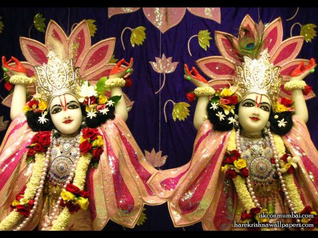 Sri Sri Gaura Nitai Close up Wallpaper (005)