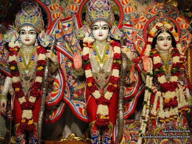 Sri Sri Sita Rama Laxman Wallpaper (008)