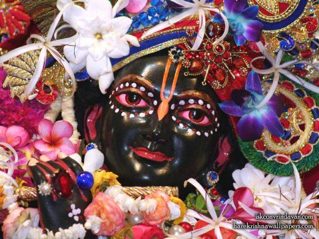 Sri Shyamsundar Close up Wallpaper (010)