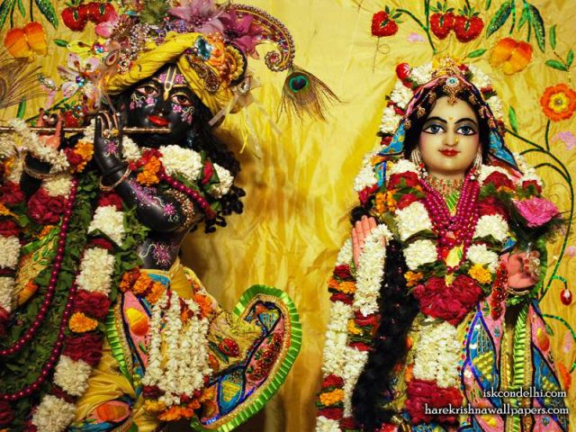 Sri Sri Radha Parthasarathi Close up Wallpaper (011)
