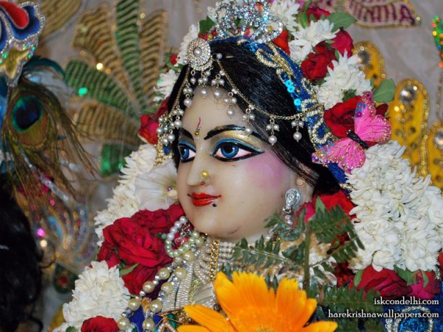 Sri Radha Close up Wallpaper (015)