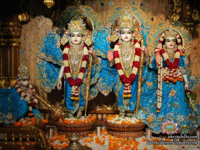 Sri Sri Sita Rama Laxman Hanuman Wallpaper (016)