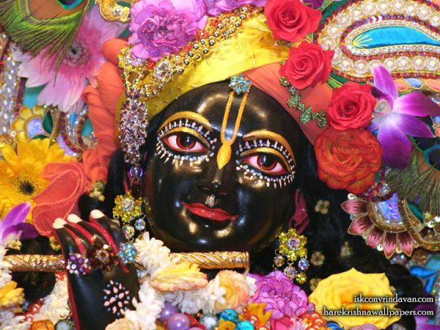 Sri Shyamsundar Close up Wallpaper (018)