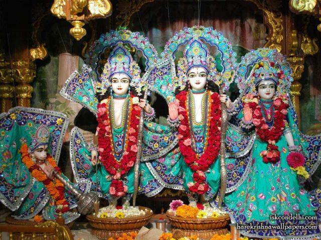 Sri Sri Sita Rama Laxman Hanuman Wallpaper (019)