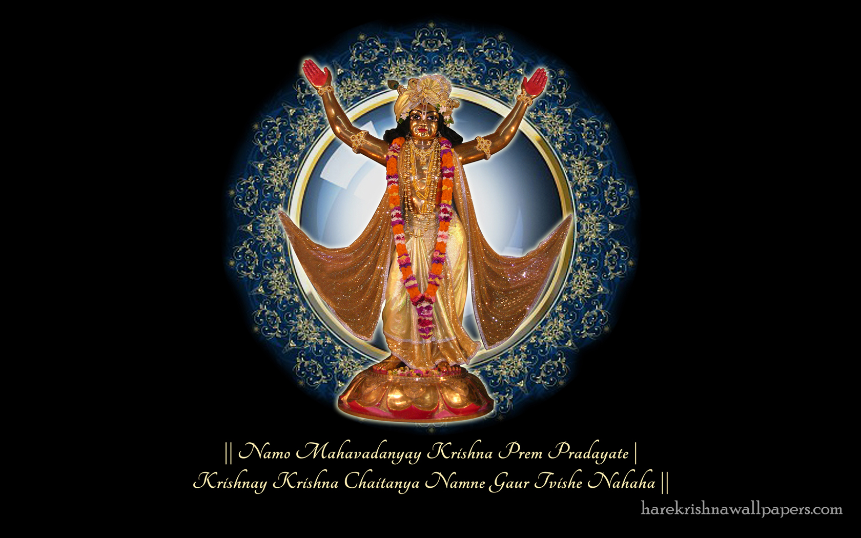 Chaitanya Mahaprabhu Wallpaper (001) Size 1680x1050 Download