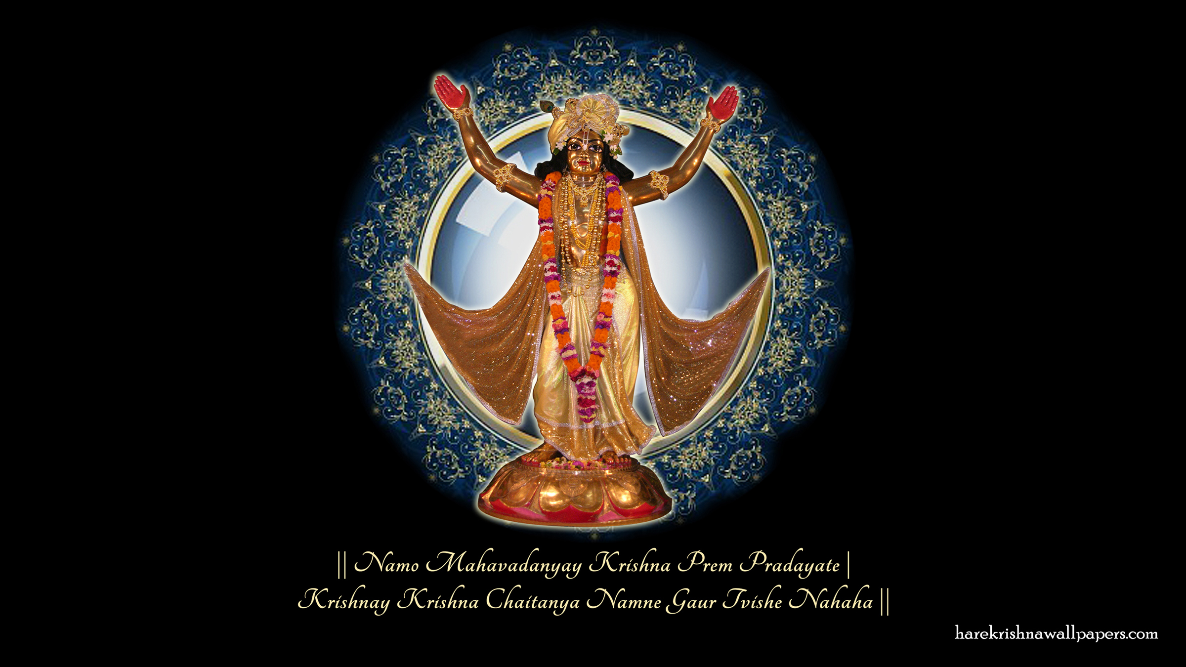 Chaitanya Mahaprabhu Wallpaper (001) Size 2400x1350 Download